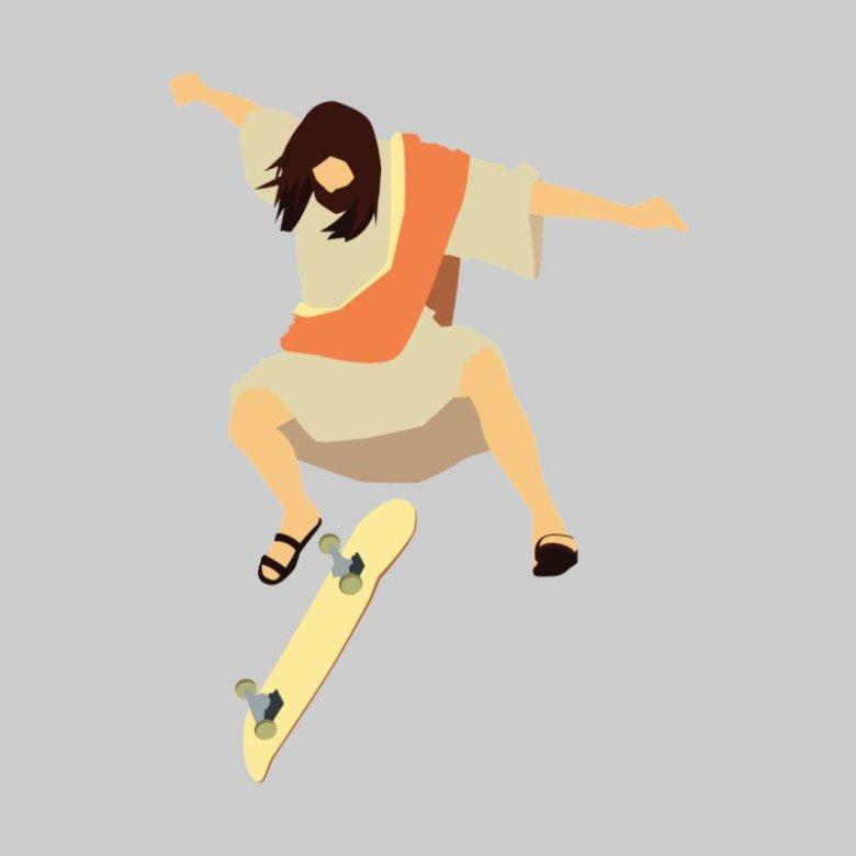 jesus skate art